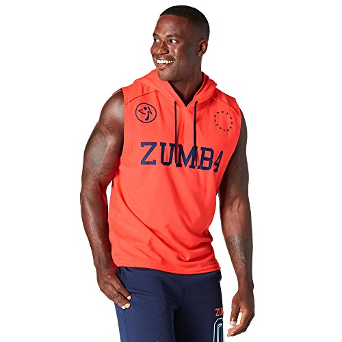 Zumba Fitness Hombre Better When You Dance Sleeveless Hoodie Top, Todo el año, Hombre, Color Coral Craze, tamaño Extra-Large