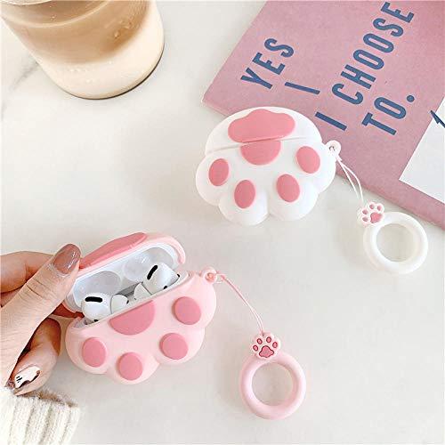 Xixihaha Elegante Caja Linda de la Pata de Gato 3D para Airpods 1 2 Pro Silicone Auricular Funda de Auriculares Funda para niños (Color : 2-For Airpods Pro)