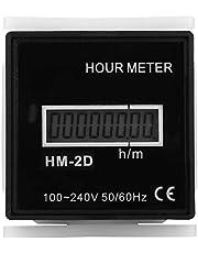 Contador eléctrico digital AC220-240V, 8 dígitos 1 minuto -999999 horas 59 minutos Contador eléctrico digital Pantalla LCD Contador de tiempo Contador de medidor