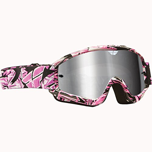 Fly Racing ZONE PRO GOGGLE PINK W/CHROME/SMOKE LENS