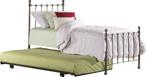 Hillsdale Furniture Molly Bed Set With Suspension Deck and Roll Out Trundle, Twin, Black Steel