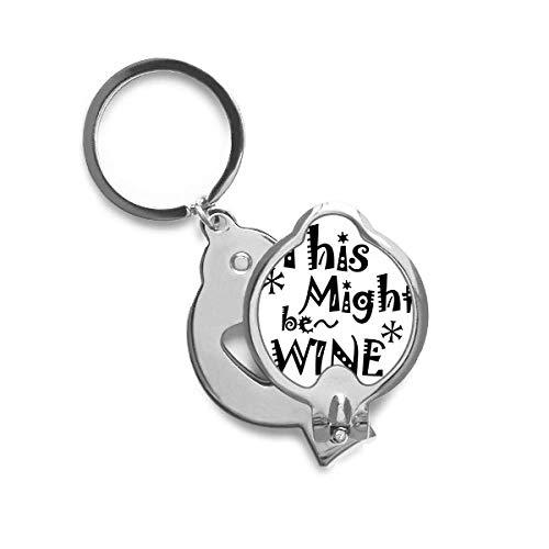 DIYthinker Dit kan wijn Quote Vingernail Cutter Trimmer