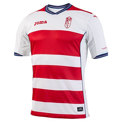 Joma GR.101011.16 Camiseta 1ª Equipación Granada, Hombre, Rojo/Blanco, M