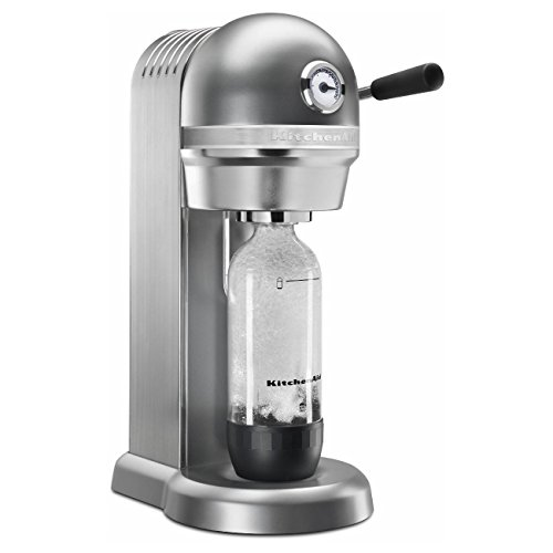 KitchenAid KSS3121CU Sparkling Beverage Maker powered by SodaStream - Contour Silver, Contour Silver (Renewed)