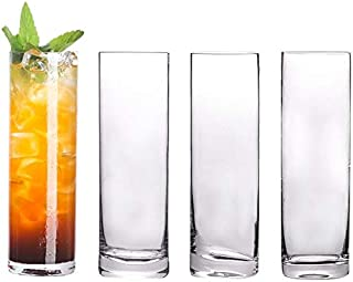 4pcs extra ljus kristall highball glasögon bärare tumbler för vatten, juice, öl och cocktail uppsättning av 4 (Color : Cle...