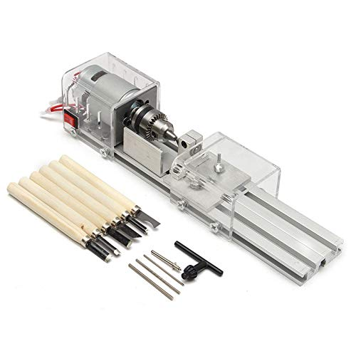 Why Should You Buy QWERTOUY 100W CNC Mini Lathe Machine Tools DIY Woodworking Wood Lathe Milling Mac...