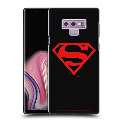 Head Case Designs Officially Licensed Superman DC Comics Black and Red Logos Hard Back Case Compatible with Samsung Galaxy Note9 / Note 9