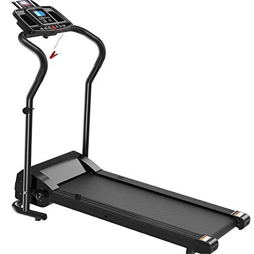 Treadmills Under Desk Electric Treadmill Remote Control and LED Display Walking Jogging Machine Treadmill Motorized (Color : Black, Size : 127x62.5x122cm)