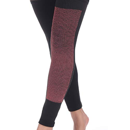 Un par de calentadores de rodilla largos, rodilleras, rodilleras, rodilleras, rodilleras, para mujeres, hombres, mejora la circulación y calentadores de articulaciones, calentador de rodilla (S)