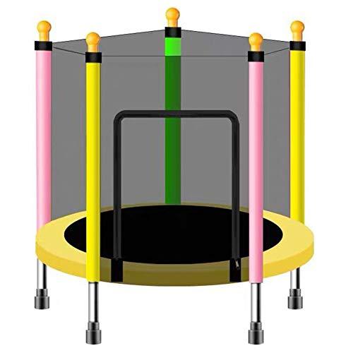 FSGD Trampolino per Bambini, Trampolino Elastico, Diametro 110 cm, Rete di Protezione, Trampolino da Giardino Ideale per Regalo di Compleanno per Bambini,Multicolor,110CMstyle
