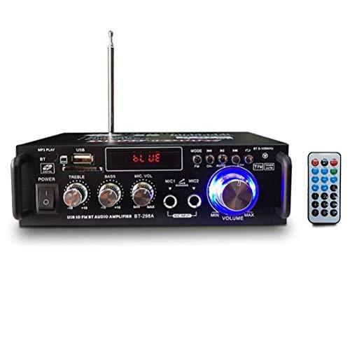 Liberación 12V / 220V BT-298A 2CH Pantalla LCD Digital HiFi Audio Amplificador De Potencia Estéreo Bluetooth Radio FM Coche A Casa con Control Remoto
