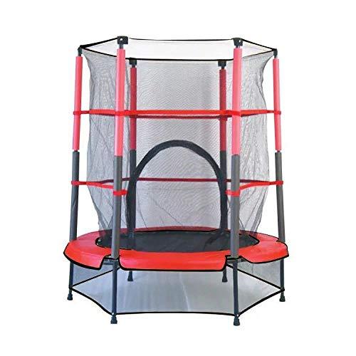 XLYAN Trampolín Trampolín De Fitness para Niños Cama De Salto De Fitness Interior con Red Trampolín Trampolín Elástico,Round