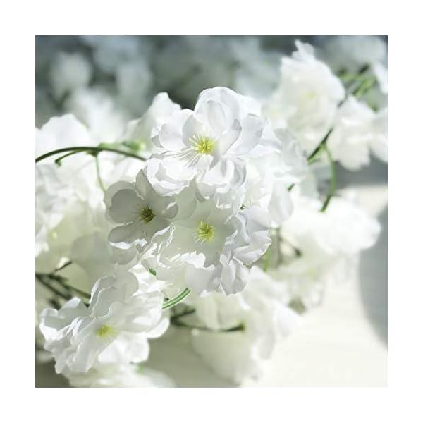 LKCELL Guirnaldas artificiales de cerezo para colgar en la pared, 2 unidades de guirnaldas, flores de cerezo, para…