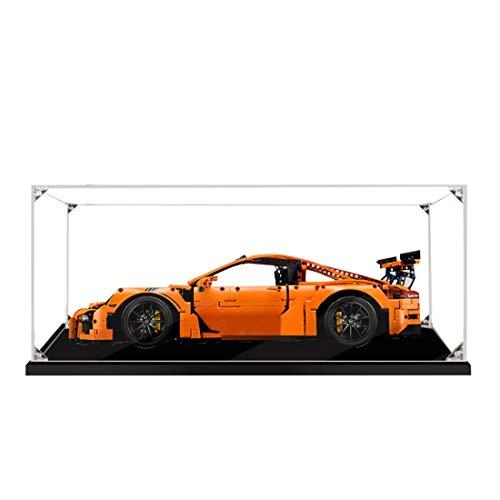 MOEGEN Display Case para Lego, A Prueba de Polvo Vitrina de Acrílico Transparente para Lego Technic Porsche 911 GT3 RS 42056 (Modelo de Lego No Incluido)- 2mm, Grado S, sin Pegamento