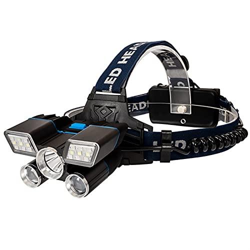 PQW 30w Luz Fuerte LED Faro USB Recargable Al Aire Libre Impermeable Luz De Trabajo con Batería De Litio 18650 Linterna Al Aire Libre Noche Pesca Patrulla Reflector Luz De Advertencia