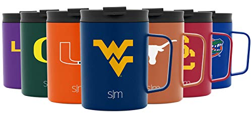 Simple Modern West Virginia Mountaineers Licensed Coffee Mug - Insulated Stainless Steel 12oz University Scout Travel Thermos Flask (CF-12-U-WVIR-A)