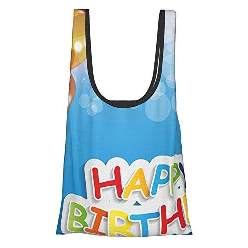 Hdaw Geburtstagsdekorationen, lebhafte Luftballons im Himmel, Sonnenstrahlen, abstrakte Luftfeier, Thema, mehrfarbig, wiederverwendbar, faltbar, umweltfreundliche Einkaufstaschen