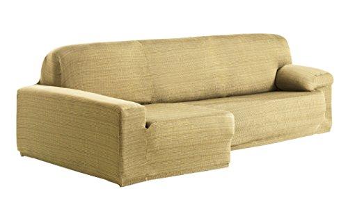 Eysa Aquiles Élastique Chaise Longue Gauche, Vue frontale, Polyester Coton, Beige, 43x37x14 cm