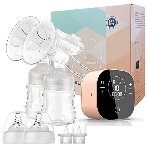Pompa elettrica per allattamento al seno con 3 modalità e 10 livelli, ultra silenziosa, ricaricabile, per viaggi e casa