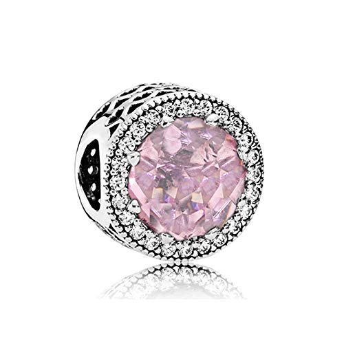 XIAODAN 100% 925 SilverSparkling Freehand Heart Dangle Charm Beads Fit Original Bracelet Silver S925 Jewelry Gift