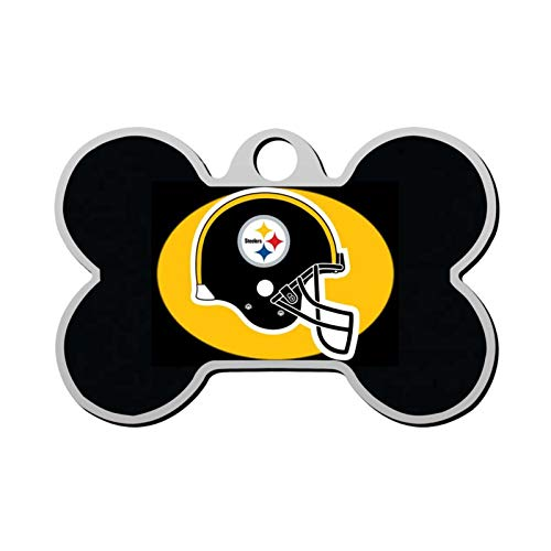 Yonoxita Pittsburgh- Steelers Custom pet ID tag Dog Tags Pet Personalized ID Bone-Shaped Double-Sided Printing Logo Phone Number