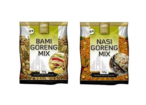 Pamai Pai® Probierset: 2 x 50g Nasi Goreng und Bami Goreng Mix Gewürzmischung Gewürz Kochen