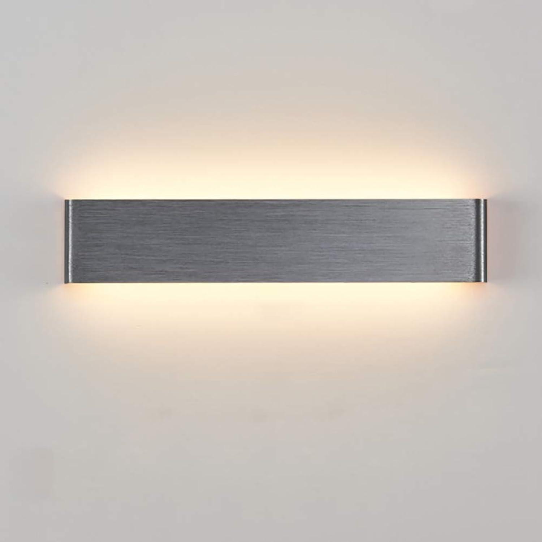 VISTANIA Einfache Wandleuchte Moderne Dekoration Led Wandlampe Aluminium Quadratisch Schlafzimmer Wohnzimmer Beleuchtung Gang Flur Wandleuchten Raum Grau,16  3.5  9CM(4W)