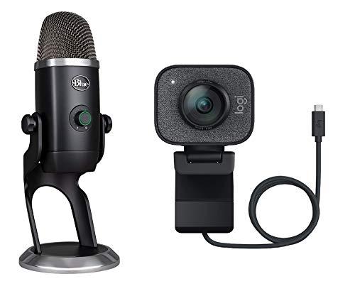 Oferta de Logitech StreamCam, Cámara Web con USB-C para Streaming de vídeo y creación de Contenido, Vídeo Vertical Full HD y Micrófono Blue Yeti X, USB para grabación y Streaming en PC y Mac, Negro