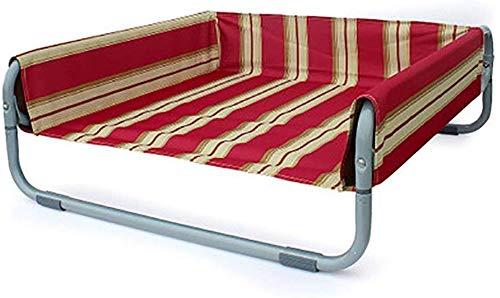 Opklapbaar bed voor huisdieren, hondenbed, kattenbed, opvouwbaar, campingmand, stalen buizen, voor reizen/strand/zand/gras, klein, 56 x 56 x 24 cm, Large 86x86x34cm