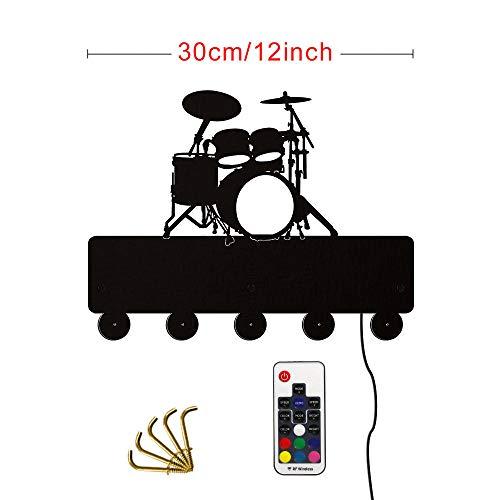WANDOM Drum Kits Decoratieve Wandhaken Muziekinstrument Wandhanger voor Sleutelhanger Kleding Unieke Muurdecoratie