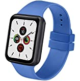 AK kompatibel mit Apple Watch Armband 42mm 38mm 44mm 40mm, Silikon Sport Ersatz Armband für iWatch...