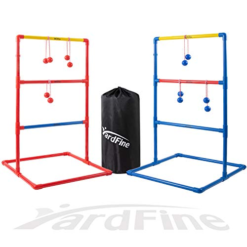 YardFine Ladder Toss Golf Game Set Outdoor/Indoor Game Party Game Family Game Set with 2 Targets 6 Golf Bolas and Pack Carrying Case
