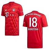 adidas Bayern Trikot Home Kinder 2020 - GORETZKA 18, Größe:152
