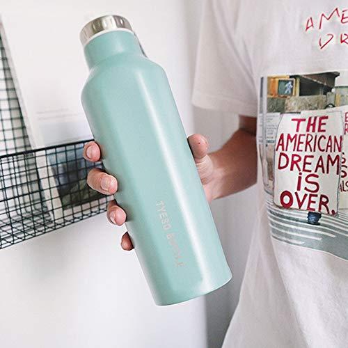 yylikehome 500 ML Nouveau Design Thermos Mug en Acier Inoxydable Tumbler Flacon à Vide Thermoses Tasse À Café Bouteille à Boire pour Les Cadeaux 500ML Vert