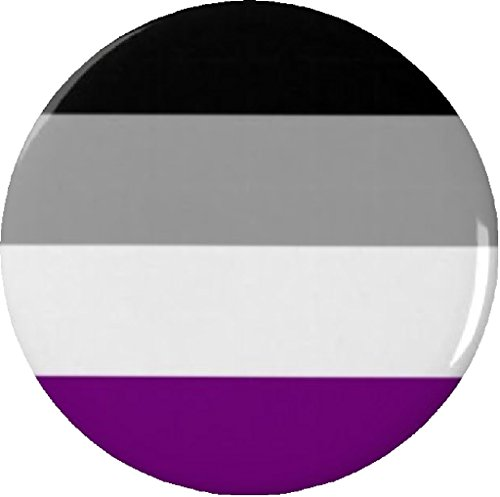 """Asexual Flag Symbol 1.25"""" Pinback Button Pin Support Awareness"""