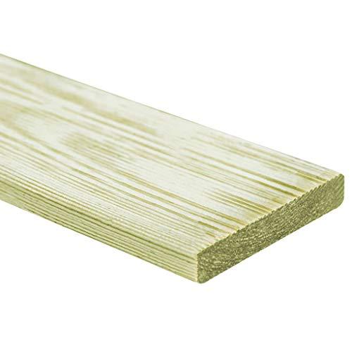 vidaXL 20x Grün-imprägniertes Kiefernholz Terrassendielen Terrassendiele Komplettset Komplettbausatz Holzdielen Holz Bretter Diele Dielen 150x12cm