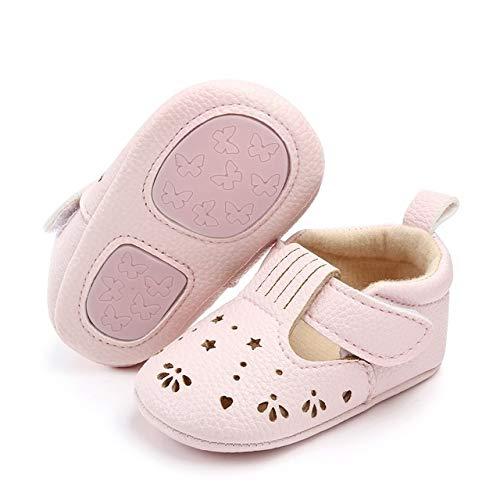 NIHAOA Kindersitzsacks Hohle Princess Baby Infantil erste Wanderer Anti-Rutsch-Sohle Hart Turnschuhe Babyschuhe/Größe: 11cm (weiß) (Color : Pink)