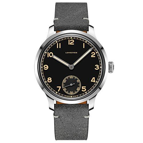 Longines orologio uomo Heritage Military 43mm acciaio carica manuale L2.826.4.53.2
