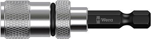 Wera 05073210001 Porta-Inserto con distanziale per cartongesso, Silver, 1/4 Zoll x 50 mm