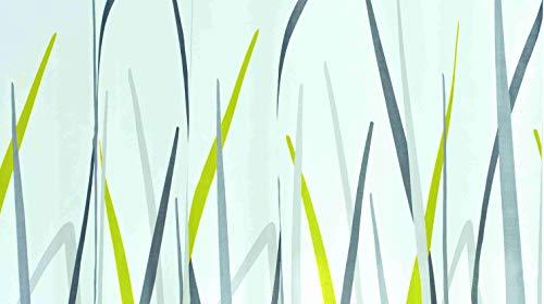 GRUND Duschvorhang ERBA 180x200 cm weiss-grün-grau