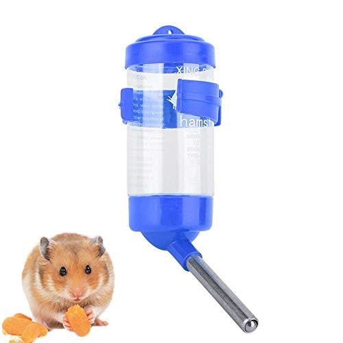 Pssopp Hamster Wasserflasche Nagertrinkflasche No Drip Tieren Trinkflasche Nager Trinkautomat Sippy Kleintier Auto Wasserspender für Hamster Hedgehog Sugar Glider Rat Mäuse(Blau)