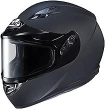 HJC Helmets CS-R3SN Unisex-Adult Full Face Snow Helmet with Framed Dual Lens Shield (Matte Black, Large)