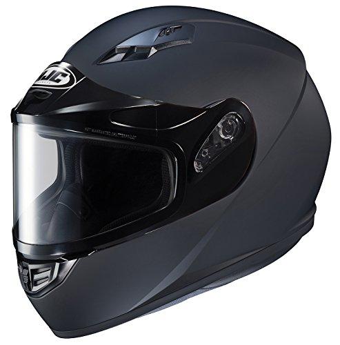 HJC Helmets - 131-614 CS-R3SN Unisex-Adult Full Face Snow Helmet with Framed Dual Lens Shield (Matte Black, Large)