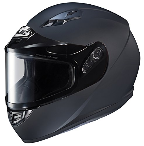 HJC Helmets CS-R3SN Unisex-Adult Full Face Snow Helmet with Framed Dual Lens Shield (Matte Black, Large)