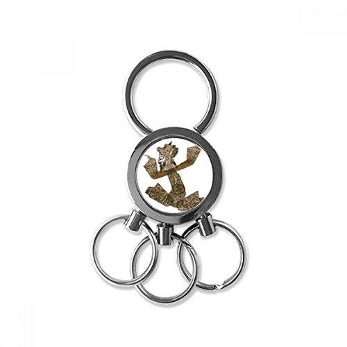 Traditionele schaduw spelen decoratieve schilderij roestvrij staal metalen sleutelhanger ring auto sleutelhanger Clip Gift