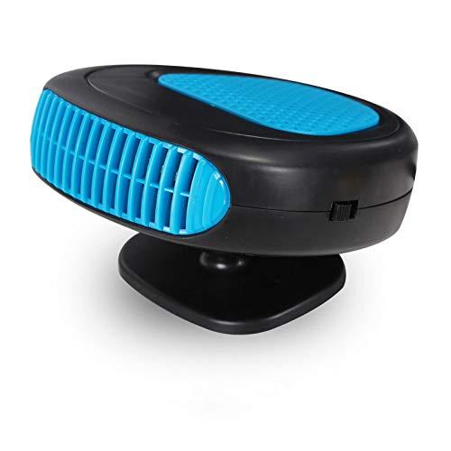 QYC Autoheizung Defroster, 12V Auto Defroster Heizung, Schnelle Heizung Kühlung mit 360 ° Drehbarem Sockel, Zigarettenanzünder für Schnelles Auftauen Nebelentfernung der Windschutzscheibe Einstecken