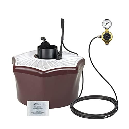 Biogents BG-Mosquitaire CO2 I da esterno I set contro tutti i tipi di zanzara I trappola antizanzare con attrattivo BG-Sweetscent e set BG-Booster CO2 I senza insetticidi I antizanzara CO2
