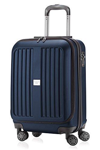 HAUPTSTADTKOFFER - X-Berg - Handgepäck Koffer Trolley Hartschalenkoffer, TSA, 55 cm, 42 Liter, Dunkelblau matt