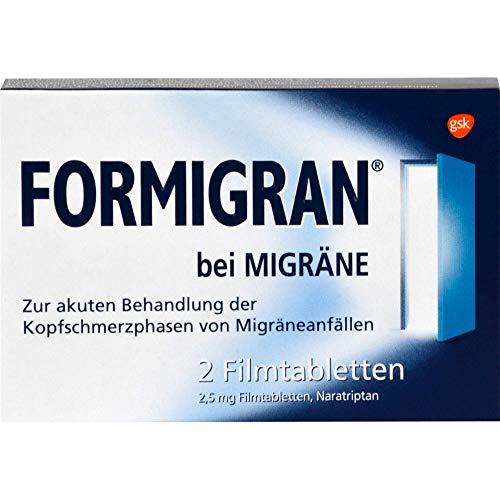 FORMIGRAN Schmerztabletten bei akuter Migräne, 2 Tabletten