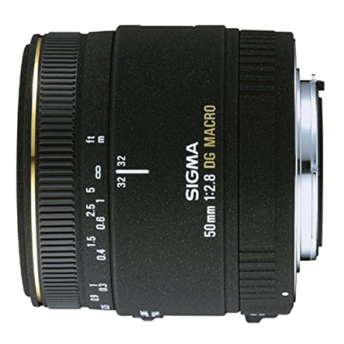 Sigma 50 mm f:2.8 DC EX ASP IF Macro - Objetivo para Sony/Minolta, Negro